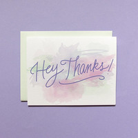 Watercolor Study Thank You Card