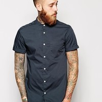 River Island Poplin shirt with Short Sleeves