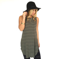 Billy Stripe Tunic Top