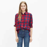 Oversized Boyshirt in Edina Plaid