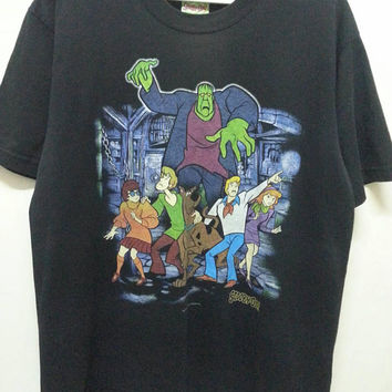 d7642e3e0 Vintage 90s Scooby Doo Adventure Horror Cartoons Anime Movie T-S