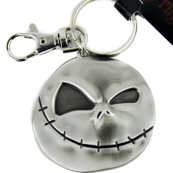 Evil Grin Jack Face Nightmare Before Christmas Jack Pewter Keyring