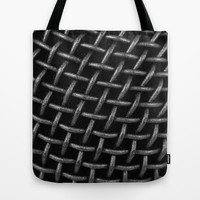 Microphone Grid Tote Bag by TilenHrovatic