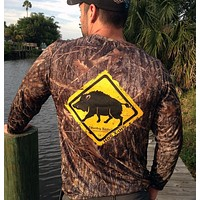 Hog Crossing Camo UPF Long Sleeve Shirt