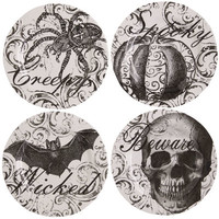 Haunted Elegance Melamine Appetizer Plate Set