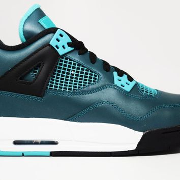 Beauty Ticks Air Jordan 4 Retro 30th Teal Bg Gs Basketball Shoes