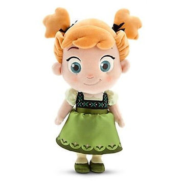 "disney store original frozen 13"" anna small toddler plush doll toy new with tag"
