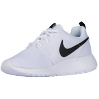 Nike Roshe One - Women's - Casual Running Sneakers - Nike - Casual - Shoes - Women's - White/White/Black | Essentials | Lady Foot Locker