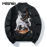 Spring Autumn Embroidery Bomber Jacket Men Casual Designer Windbreaker Pilot Jacket Men Bomber Jackets Coats