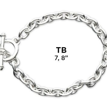 Heavy Sterling Silver Bracelet with Toggle