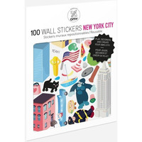 100 Wall Removable Reusable Stickers - New York City