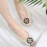 Tory Burch 2018 New Women's Exquisite Bow Square Button Metal Shoes