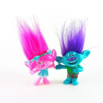 2pcs/lot Trolls figures poppy Branch action figure toy set