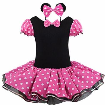 Kids Minnie Mouse Party Fancy Costume Cosplay Girls Ballet Tutu Dress Girls Polka Dot Dress Clothes Halloween Christmas Gift