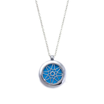 Sunflower Essential OilDiffuser Necklace With Chain And Pads