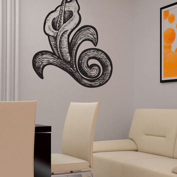 Vinyl Wall Decal Sticker Wood Burn Calla Lily #1187