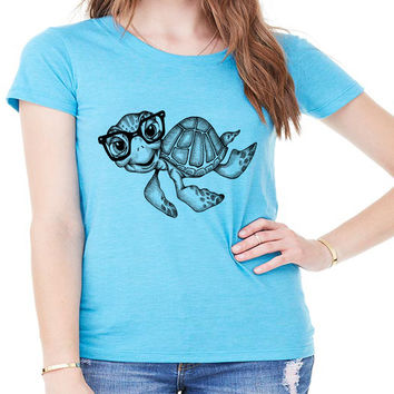 Sea Turtle Nerd Zoo Tee
