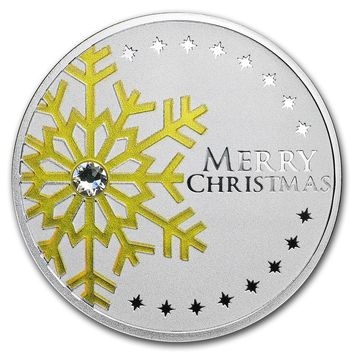 2019 Republic of Cameroon Silver First Star Christmas