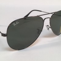 New RAY BAN Sunglasses 3025 W0879 Aviator Gunmetal Ray-Ban 58mm Metal RayBan