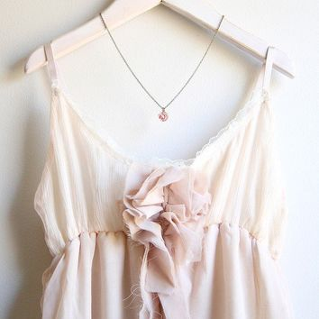 La Petite Rose Necklace in Blush by tamar on Etsy