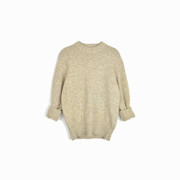Vintage Marled Wool Sweater in Barley Tan by Woolrich / Tan Sweater / Heritage Sweater - women's large