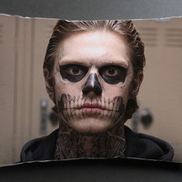 american horror story skull pillow case