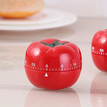 Tomatoes Shape Kitchen Cooking Timer Countdown 60 Minutes Alarm Clock Mechanical Time Reminder Kitchen Tool 70x70x55mm
