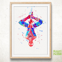 The Amazing Spider-Man - Watercolor, Art Print, Home Art, Wall decor, Nursery Room, Watercolor Print, Superhero Poster