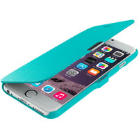 Baby Blue Magnetic Flip Wallet Case Cover Pouch for Apple iPhone 6 Plus 6S Plus (5.5)