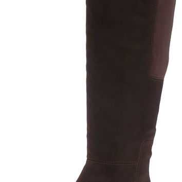 Bandolino Women's Terusa Chelsea Boot Dark Brown Suede 7.5 B(M) US