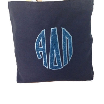 CUSTOM Sorority Monogram Tote -- Makes a Great Gift! Perfect for Big/Little!
