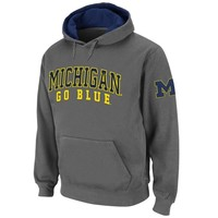 Michigan Wolverines Double Arches Pullover Hoodie - Charcoal