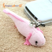 Strapya World : Lovely Creature Living in Freshwater Plush Doll Cell Phone Strap (Axolotl / Pink)【Sea Creature】