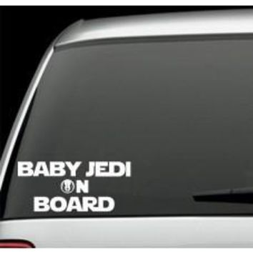 Baby Jedi on Board Decal Sticker Inspired By Star Wars car wall