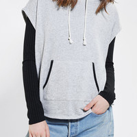 Urban Outfitters - Silence + Noise Rib Sleeve Pullover Hoodie Sweatshirt