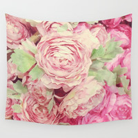 Roses Wall Tapestry by juliagrifoldesigns