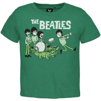 The Beatles - Green Cartoon Infant T-Shirt