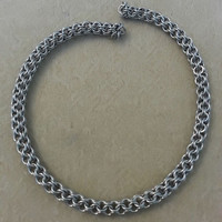 Inverted Round Chainmaille Necklace, Chainmaille Necklace, Chainmaille Jewelry, Chainmaille
