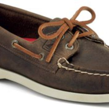 Sperry Top-Sider Authentic Original 2-Eye Boat Shoe BrownDistressedLeather, Size 10S  Women's Shoes