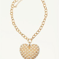 Pave Pearl Heart Necklace | Necklaces | rue21