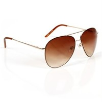 Gold Metal Aviator Sunglasses