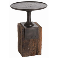 Arteriors Home DD2029 Anvil Cast Iron and Reclaimed Wood Occasional Table