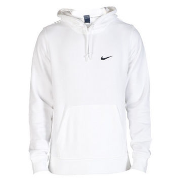Nike club swoosh pullover hoodie white from for White nike swoosh shirt