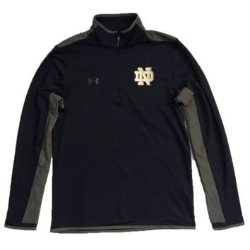 Notre Dame Fighting Irish Navy Flawless Survival 1/4 Zip Track Jacket By Under Armour