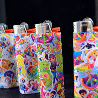Totally Rad Lisa Frank handmade Lighters by PunkJunkNYC on Etsy