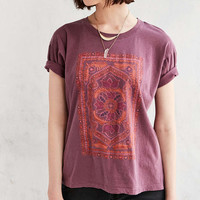 Truly Madly Deeply Floral Purple Jewel T-shirt - Urban Outfitters