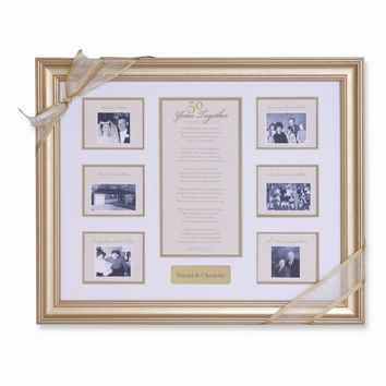 50 Years Together Anniversary Photo Frame - Engravable Personalized Gift Item