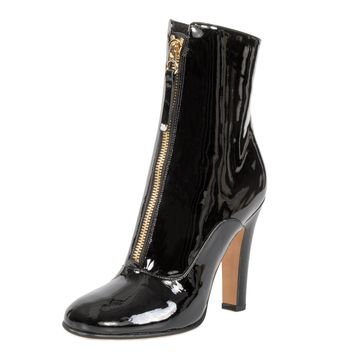 Valentino Patent Leather Ankle Boots | Black | Size 39