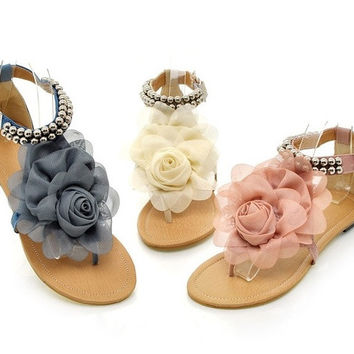 c7426946fb0f8a Melissa jelly camellia sandals flip-flops summer shoes flat flat