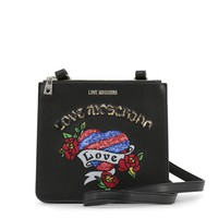New! Love Moschino Black Tattoo Crossbody